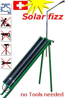 the Solar fizz Garden Shower is ready without Tools in 1 Minute